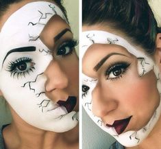 alice in wonderland face paint - Google Search