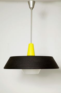 1950s Dutch pendant lamp by Niek Hiemstra or Louis Kalff for Philips