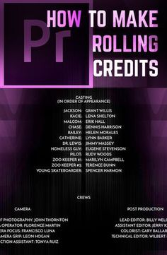 Create Smooth Beautiful Rolling Credits in Premiere Pro CC Dr. Kabeya is a specialist in Mesotherapy and Dermatology practising as a Cosmetic Medical Doctor. He is also the President and Founder of UKAM, the United Kingdom Association of Mesotherapy.