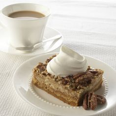 It's the crunchy layer of pecans and the toasty flavor of pumpkin pie spice that make this easy, creamy dessert so satisfying. Serve with a dollop of whipped cream.