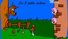 Les 3 petits cochons! Histoire interactive pour TBI ou ordinateur. French School, French Class, French Websites, Music Websites, French Education, Core French, French Grammar, French Resources, Teaching Technology
