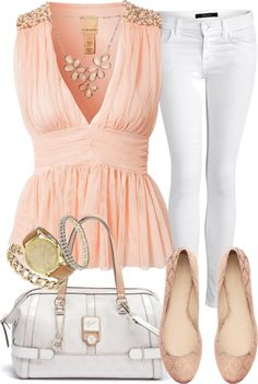 """""""Pretty in Light Pink"""" by c-michelle ❤ liked on Polyvore"""