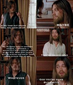 HANDS DOWN this is the FUNNIEST TWD meme I have seen yet. I just laughed SO HARD! HAHAHAHAHAHAHA!