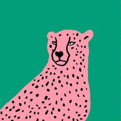 Fox And Velvet Cheetah Illustration, mid century animal, Zoo animal design, Safari animal Art And Illustration, Pattern Illustration, Painting Inspiration, Art Inspo, Kunst Inspo, Posca Art, Wow Art, Painting & Drawing, Graphic Art