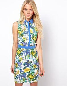 A Wear Shirt Dress In Floral Print; ASOS