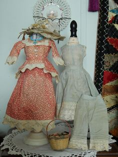 "Fabulous French fashion 12"" doll antique trousseau! Now available in my Ruby Lane store-Kim's Doll Gems!"