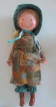 Vintage Holly Hobbie Vinyl Doll- 1974 American Greetings Knickerbocker ...