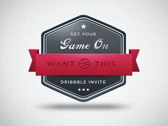 Dribbble Invite by Kenny Williams via dribbble.com • #crest #shield #badge #design