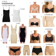 underwear essentials capsule wardrobe 15 pieces for every outfit