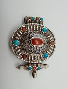 Handcrafted sterling silver and turquoise by TheSterlingBead