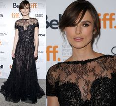 Keira Knightley black dress.