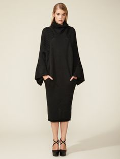 Big Sleeve Knit Dress by Yohji Yamamoto