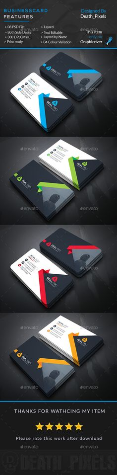 Creative Business Card Template PSD. Download here: https://graphicriver.net/item/creative-business-card/17542302?ref=ksioks