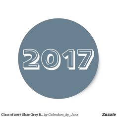 Class of 2017 Slate Gray Round Sticker by Janz