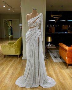 Unique Elegant One Shoulder Sequin Mermaid Modest Long Prom Dresses Gala Dresses, Event Dresses, Formal Dresses, Wedding Dresses, Casual Dresses, Tailored Dresses, Bride Dresses, Occasion Dresses, Bridesmaid Dresses