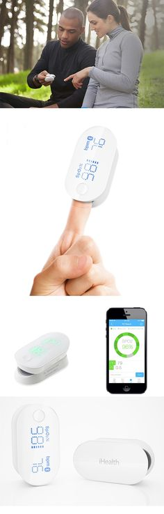 'The iHealth brand oximeter' by Duo Li allows users to monitor their pulse rate and blood oxygen saturation levels from the convenience of  their smartphone... READ MORE at Yanko Design !