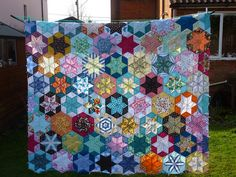 diamonds english paper piecing