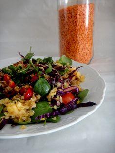 RAPA TACHOS: Salada de lentilhas vermelhas