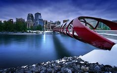 [InterfaceLIFT] - Peace Bridge By Mohsen Kamalzadeh October 2014 Dusk at the beautifully designed Peace Bridge in downtown Calgary, Canada. World Wallpaper, Hd Wallpaper, Desktop Wallpapers, Business Prayer, Relationship Prayer, Bridge Wallpaper, Bring Back Lost Lover, Architecture Images, Wallpaper Pictures