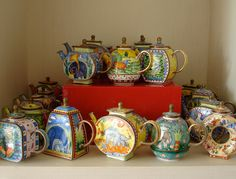 Hand Painted Tea Pots
