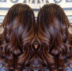 8 long brown hair with caramel balayage