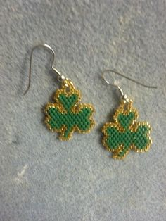 my first pair of Shamrock earrings my niece bought.