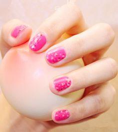 Sweet pink leopard nail