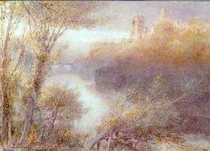 La cathédrale de Durham de Albert Goodwin (1845-1932, United Kingdom)