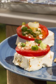 Fetapfanne vom Grill, perfekt für Vegetarier
