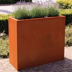 Buy Andes Corten Steel Trough from Buy Metal Online. Adds rustic style to a garden, patio or balcony. Ideal for planting and garden design. Trough Planters, Corten Steel Planters, Metal Planters, Garden Planters, Wall Planters, Metal Pergola, Backyard Pergola, Pergola Kits, Pergola Plans