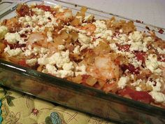 baked shrimp and feta pasta by Elly Says Opa, via Flickr