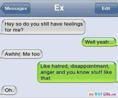 """i am using this for when """"that specifc ex that won't leave me alone"""" texts"""