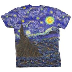"A torso need. ArtsyClothingCo. ""Van Gogh -""The Starry Night"" (1889)"" Crew Neck T-Shirt."