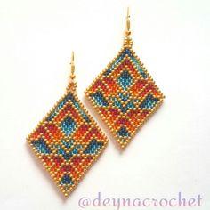 "Brick stitch earrings ""Futuro"""