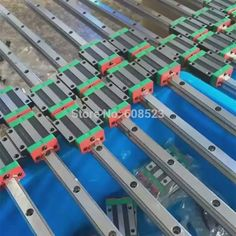 56.00$  Buy now - http://aliimv.shopchina.info/go.php?t=32750965605 - CNC Set 25-400mm 2x Linear Guideway Rail 4x Square type carriage bearing block 56.00$ #buyonline
