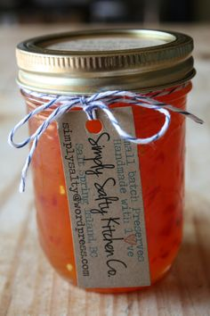 Hot Mango Pepper Jelly by SimplySaltyKitchenCo on Etsy,