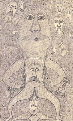 Edmund Monsiel : Henry Boxer Gallery - Outsider Artist