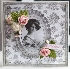 "Card made with papers from ""Lykke""-line. http://papirdesign.blogspot.no/2014/07/et-bursdagskort.html"