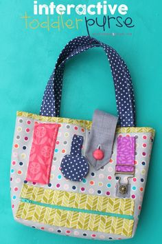 This fun toddler purse can help keep little hands busy with all of those buttons, pockets, and doo-dads! Get the tutorial from A Girl and A Glue Gun.