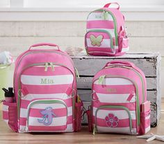 Fairfax Pink Stripe Backpacks | Pottery Barn Kids