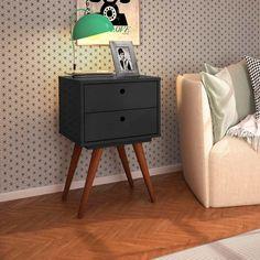 Criado-Mudo Retrô Plus Preta French Home Decor, Cute Home Decor, Fall Home Decor, Home Decor Styles, Luxury Homes Interior, Home Interior Design, Interior Plants, Interior Modern, Simple Living Room Decor