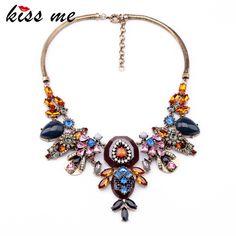 New Styles KISS ME Statement Fashion Women Jewelry Insert Pendant Short Necklace #Affiliate