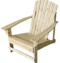 Home Depot: Unfinished Adirondack Chair $39 + Free Store Pickup