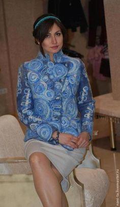 """Tatiana Nani. Войлок, верхняя одежда ручной работы.  Жакет войлочный """"Морозные узоры"""". Handmade."""