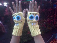 SpongeBob SquarePants  Fingerless Gloves   *Inspiration*