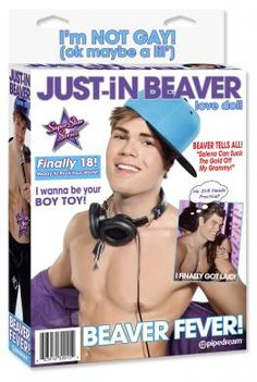 Just In Beaver love doll. When I heard about this product I thought it was too funny. Justin Bieber has a sex doll LOL!