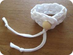 Easy T-Yarn Crochet Bracelet - By MiekK