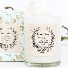 This is a romantic scent with a creamy and smooth vanilla bean extract combined with subtle hints of white musk. Warm and inviting, this vanilla bean perfumed candle is a real treat for all vanilla lo. Vanilla Perfume, Personalized Gifts For Her, Soy Candles, Baby Quilts, Beans, Personalised Gifts For Her, Prayers, Beans Recipes, Baby Afghans