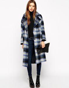 Image 1 - ASOS - Manteau à carreaux avec bords bruts