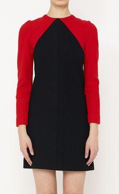 Halston Black + Red Dress